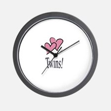 Cute Baby for twins Wall Clock