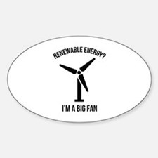 Renewable Energy Sticker (Oval)