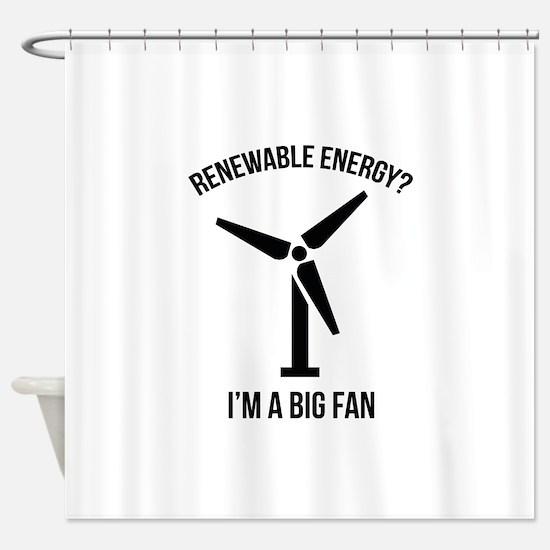 Renewable Energy Shower Curtain