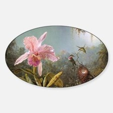 Orchid and Three Hummingbirds Decal