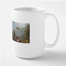 Orchid and Three Hummingbirds Mug