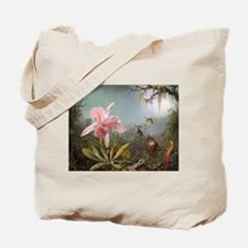 Orchid and Three Hummingbirds Tote Bag