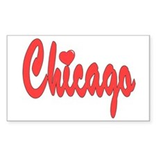 Chicago Heart Decal