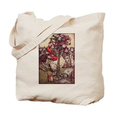 Painting the Roses Red & Tea Party Tote Bag