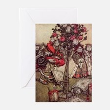 Painting the Roses Red Greeting Cards (Package of