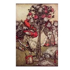 Painting the Roses Red Postcards (Package of 8)