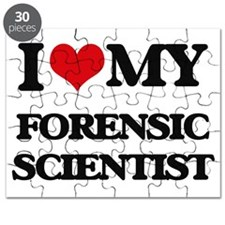 I love my Forensic Scientist Puzzle