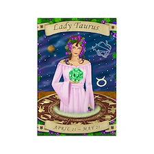 Lady Taurus Rectangle Magnet