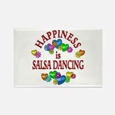 Happiness is Salsa Rectangle Magnet