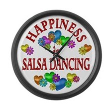 Happiness is Salsa Large Wall Clock