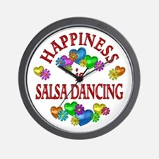 Happiness is Salsa Wall Clock