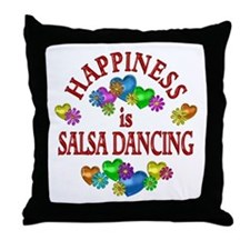 Happiness is Salsa Throw Pillow