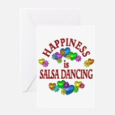 Happiness is Salsa Greeting Card