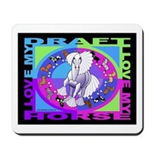 Graphically Equine Draft Horse Mousepad