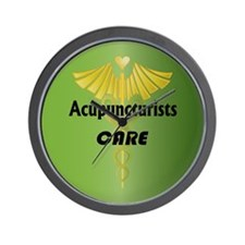 Acupuncturists Care Wall Clock