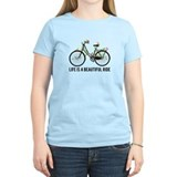 Life is beautiful bicycle Women's Light T-Shirt