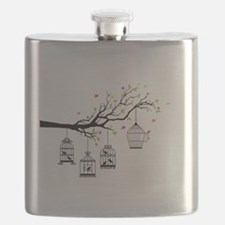 Birds and birdcages Flask