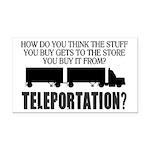 Teleportation Truck Driver Rectangle Car Magnet