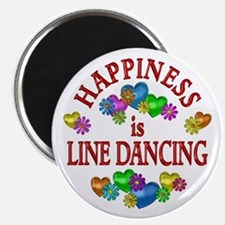 """Happiness is Line Dancing 2.25"""" Magnet (10 pack)"""