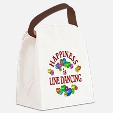 Happiness is Line Dancing Canvas Lunch Bag