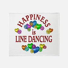 Happiness is Line Dancing Throw Blanket