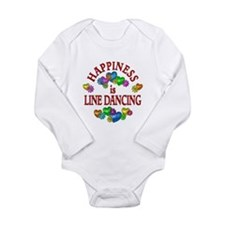 Happiness is Line Danc Long Sleeve Infant Bodysuit