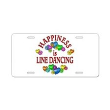 Happiness is Line Dancing Aluminum License Plate
