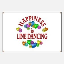 Happiness is Line Dancing Banner