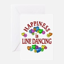 Happiness is Line Dancing Greeting Card