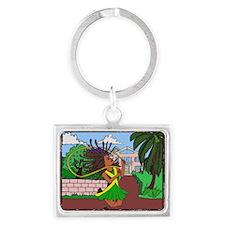 Jamaican Girl Landscape Keychain