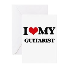 I love my Guitarist Greeting Cards