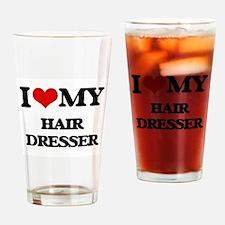 I love my Hair Dresser Drinking Glass