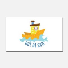 Out At Sea Car Magnet 20 x 12