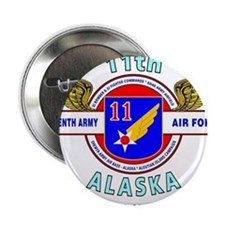 """11TH ARMY AIR FORCE WORLD W 2.25"""" Button (10 pack)"""