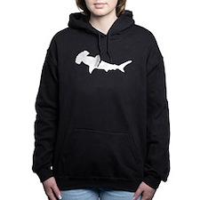 Hammerhead Shark Silhouette Women's Hooded Sweatsh