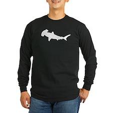 Hammerhead Shark Silhouette Long Sleeve T-Shirt