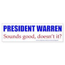 Warren Sounds Good Bumper Bumper Sticker