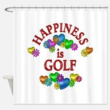 Happiness is Golf Shower Curtain