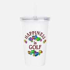 Happiness is Golf Acrylic Double-wall Tumbler
