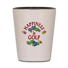 Happiness is Golf Shot Glass