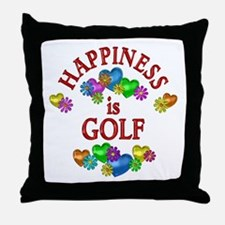 Happiness is Golf Throw Pillow