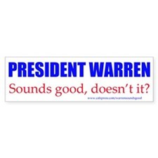 Warren Sounds Good Bumper Bumper Sticker