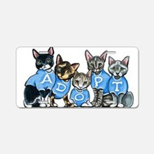 Adopt Shelter Cats Aluminum License Plate