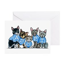 Adopt Shelter Cats Greeting Cards