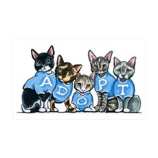 Adopt Shelter Cats Wall Decal