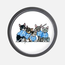 Adopt Shelter Cats Wall Clock