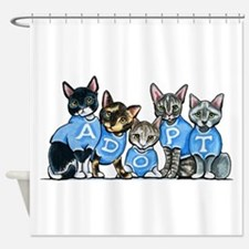 Adopt Shelter Cats Shower Curtain