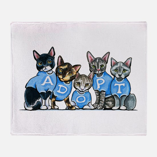 Adopt Shelter Cats Throw Blanket