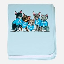 Adopt Shelter Cats baby blanket