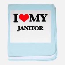 I love my Janitor baby blanket